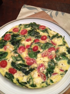 Live... Bake... Love...: Spinach, Tomato and Herbed Feta Frittata