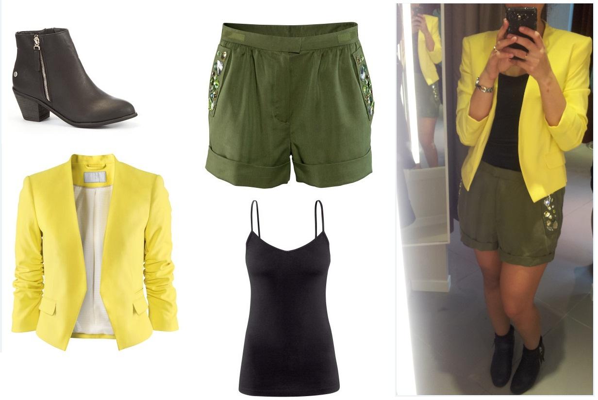 les conseils beaut de diana et julie id e de tenue jaune et kaki. Black Bedroom Furniture Sets. Home Design Ideas