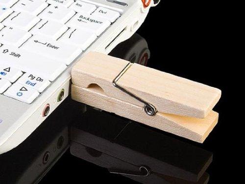 Wood Clip Pendrive