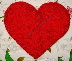 Tapete felpudo coração