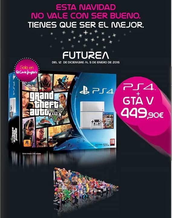 Consola PS4 de El Corte Ingles 2014-15
