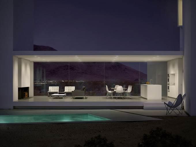 pemandangan rumah pada waktu malam