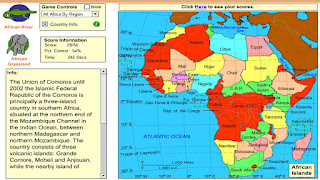 St Clares Class Blog Fun Map of Africa Games