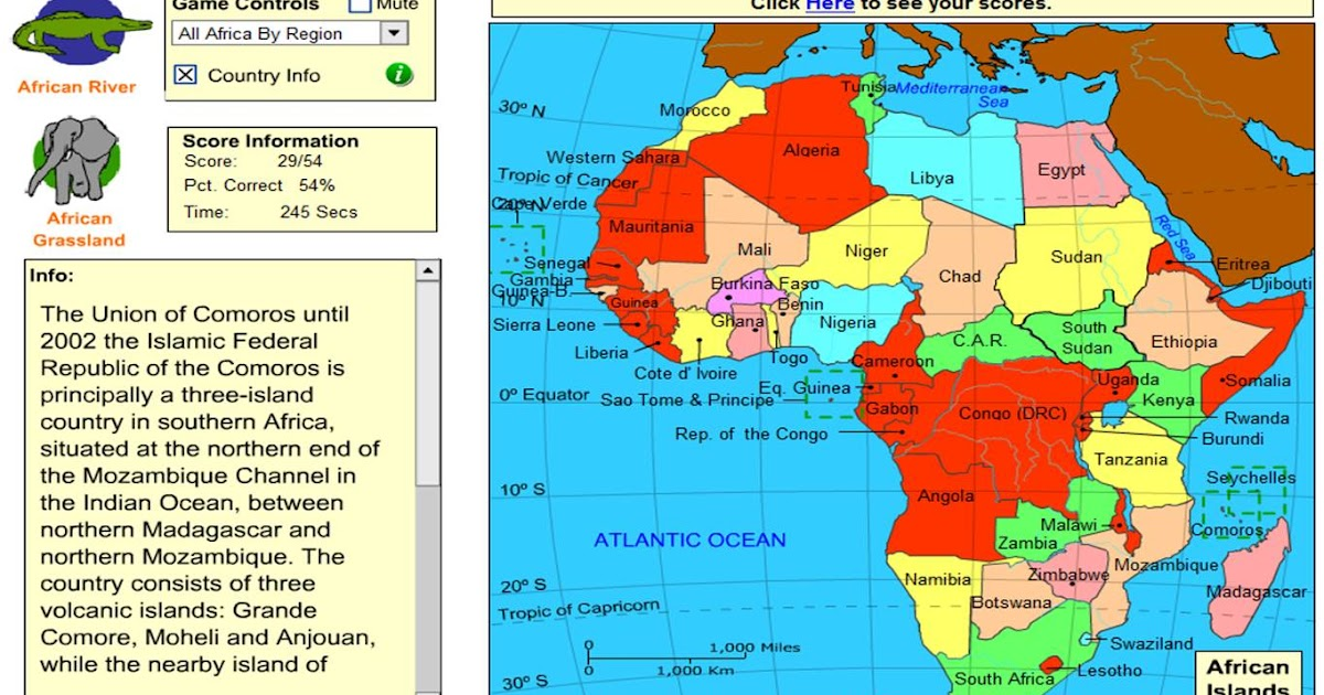 St. Clare's Class Blog: Fun Map of Africa Games!