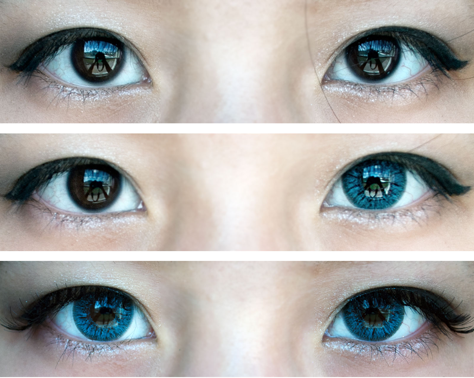 Review of GBT Sky blue lenses on the eyes in window lighting; from Pinky Paradise!