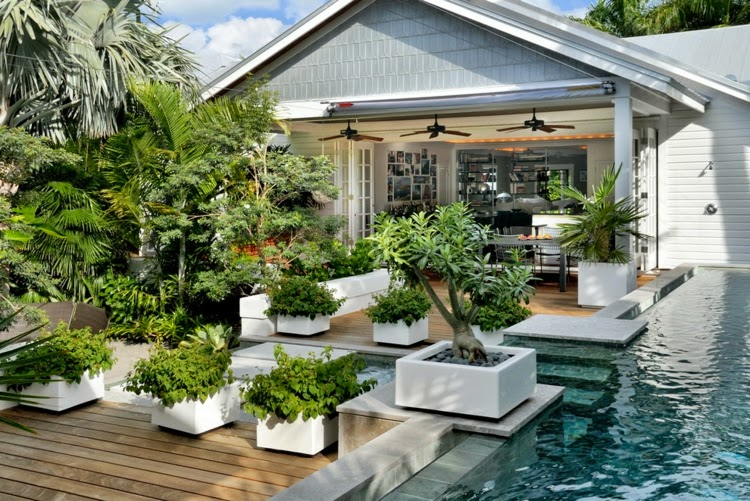 Modern Garden Design Examples Planters As Accent Houzz Home