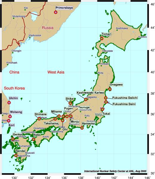 Extrêmement Carte des centrales nucléaires dans le monde - Wikistrike ZI79