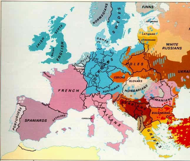 Map of the week europe 1914 httpteacherssdsocialsciethnicmapeur1914 sciox Gallery