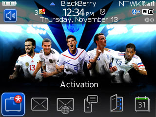 Tema BlackBerry 8520 UEFA EURO 2012 Download Tema BlackBerry 8520 Gratis 2012