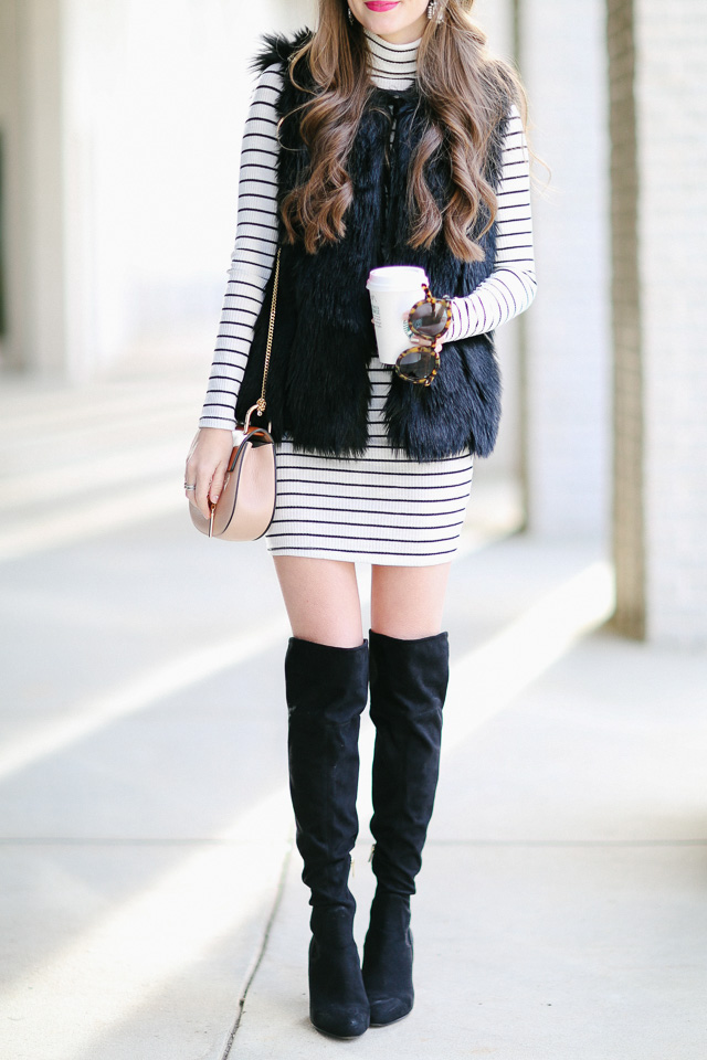 Black and white outfit for winter