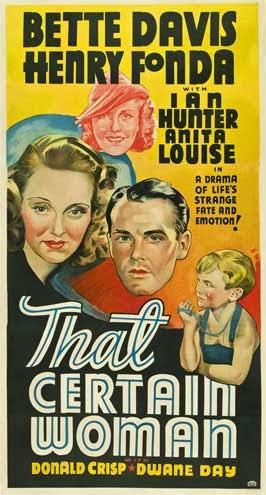 user-x ha escrito una nueva entrada, That Certain Woman (1937) - DVDrip / VOSE