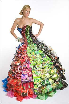 Junk Mail Gems: Amazing recycled ball gowns