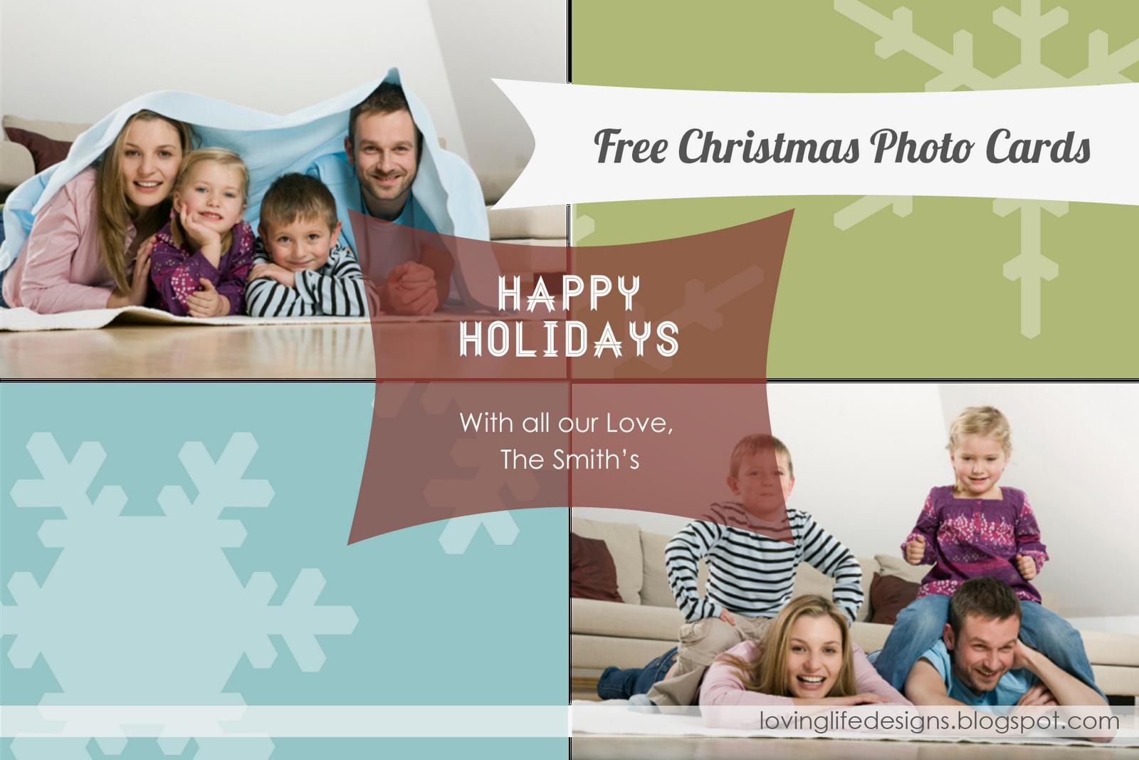 Printables new christmas holiday photo cards free christmas card