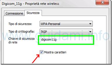 Chiave di sicurezza di rete WiFi