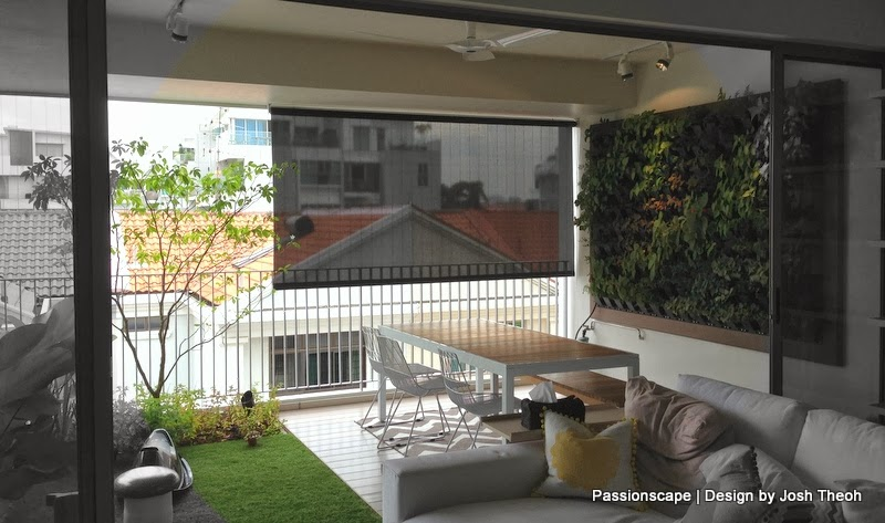 Singapore landscape design balcony in style 2 garden for Balcony restaurant group