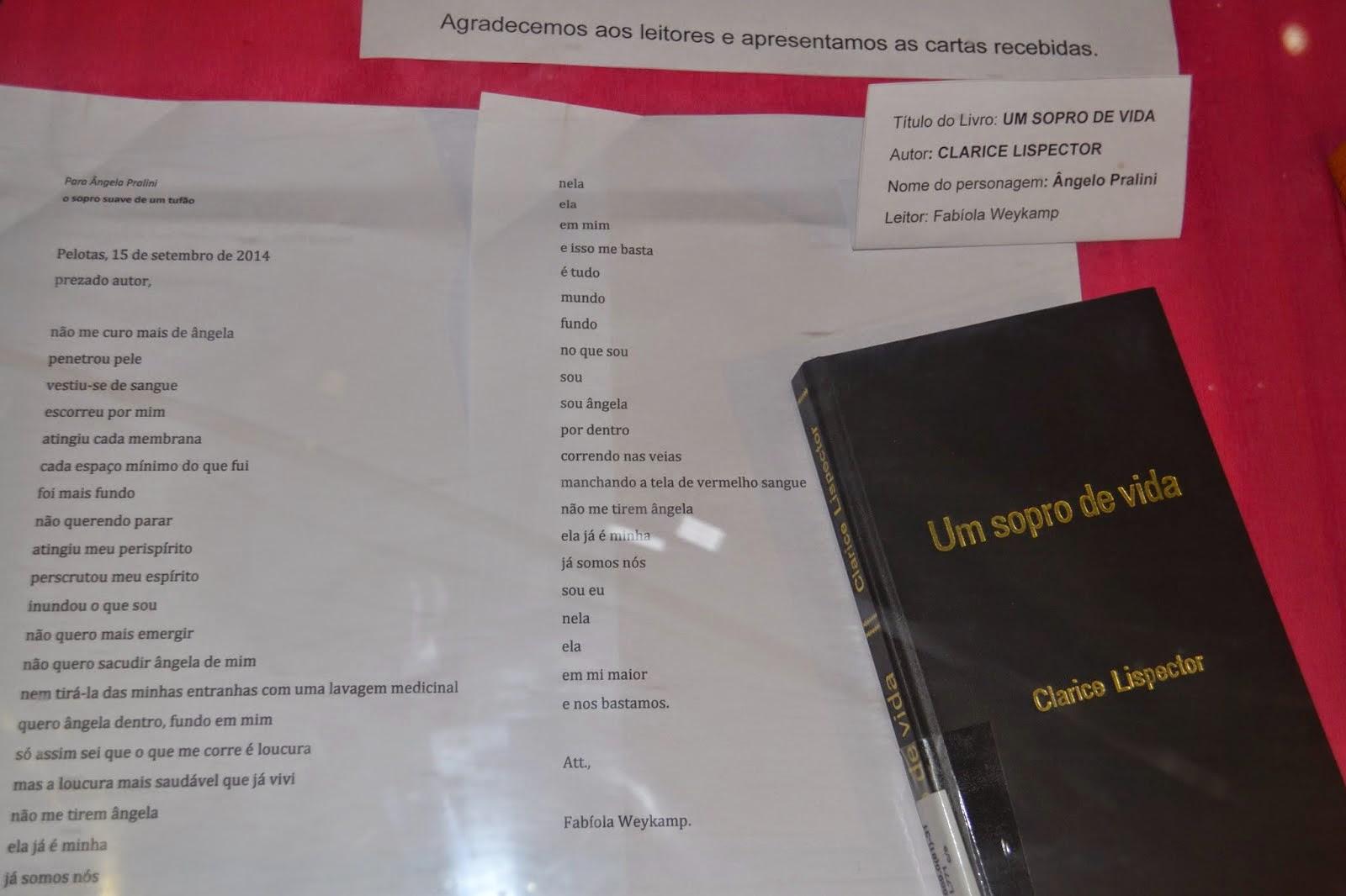 """Mostra da ação cultural """"Cartas a personagens literário"""""""