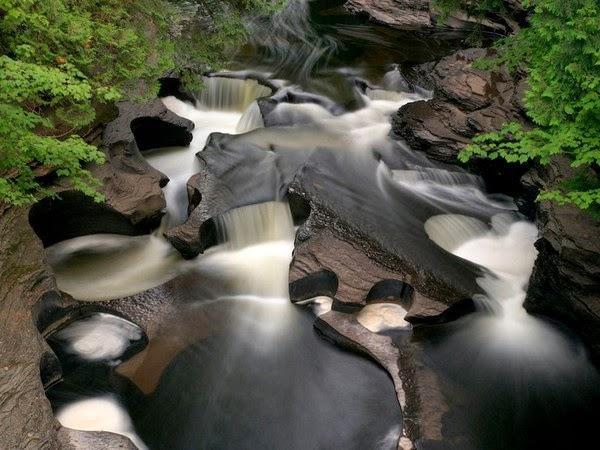 Porcupine Mountains Waterfall, Ontonagon, Michigan, USA
