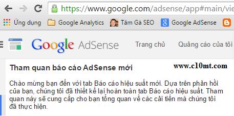 Cập nhật báo cáo Google Adsense 2015 theo cách mới
