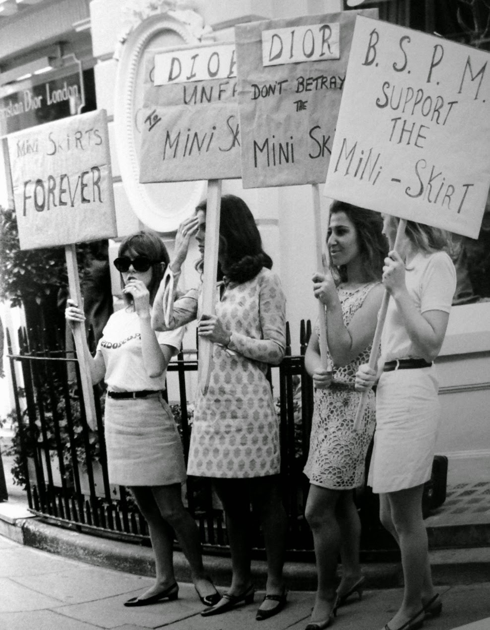 London Women Protesting for Mini-skirts, 1966 | That Eric Alper