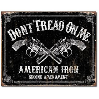 dont tread on me american iron revolvers tin sign for man cave