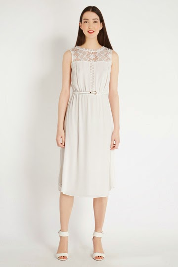 oasis white lace dress
