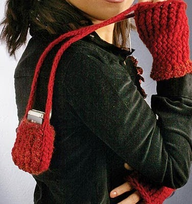 Knifty Knitter Fingerless Gloves