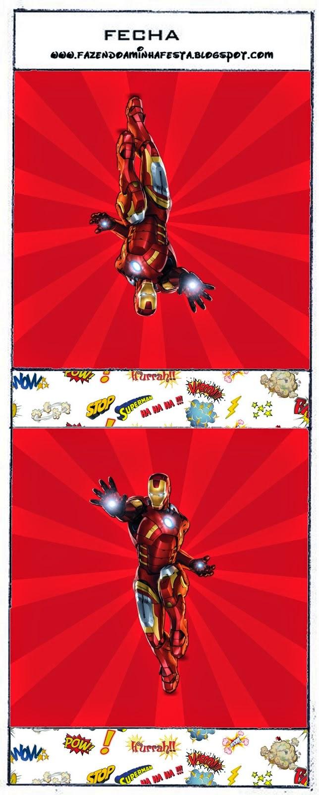 Etiquetas de Iron Man para Imprimir Gratis.