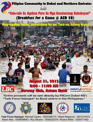 Breakfast for a Cause... to help Flood Victims in the Philippines