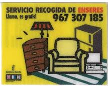 Servicio gratuito de recogida de muebles y enseres