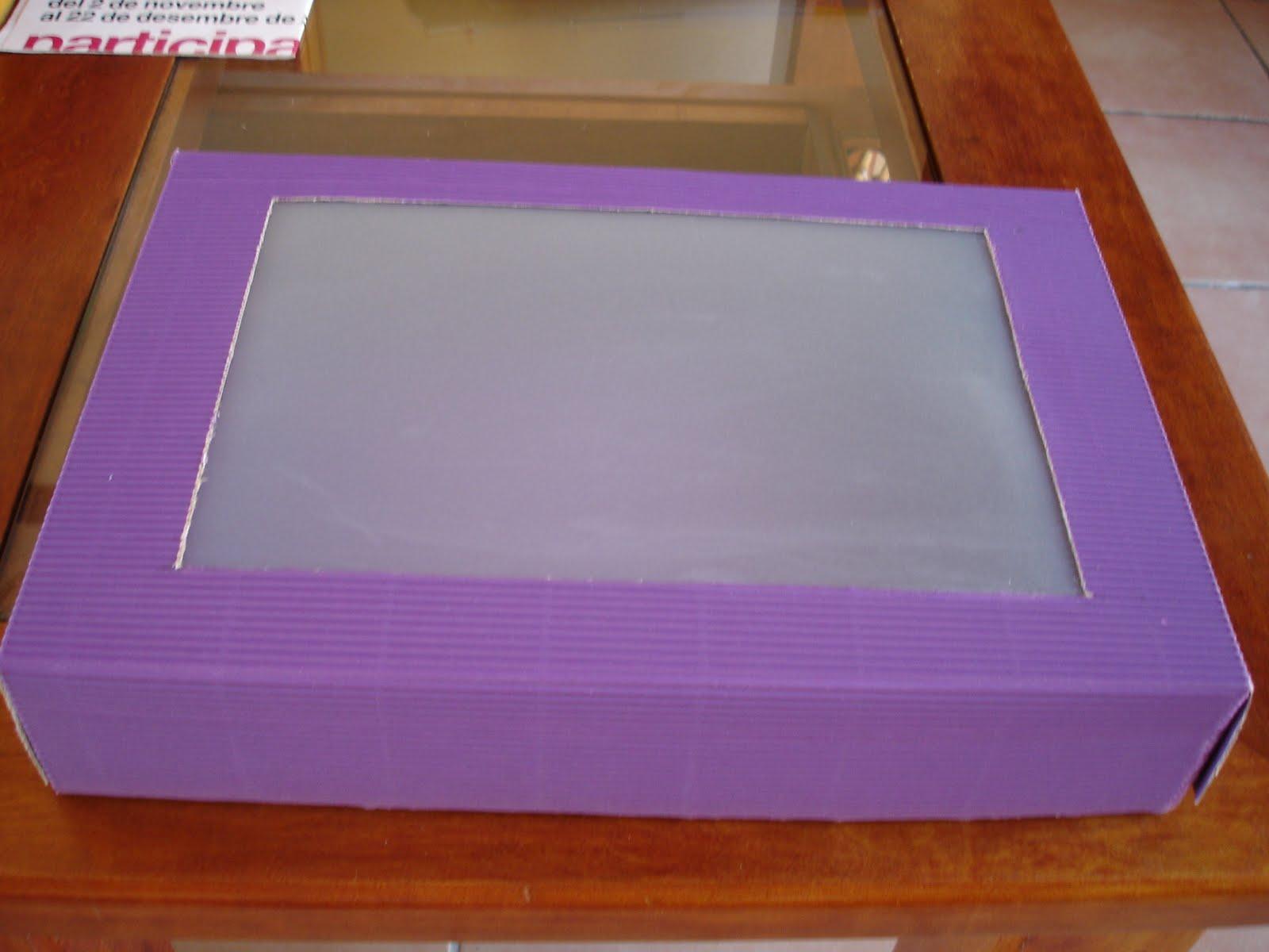 A punto de cookie paso a paso para hacer una caja de regalo - Como hacer cajas de cartulina ...