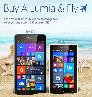 Get a return flight to Phuket, Krabi or Singapore when you buy this smartphone!