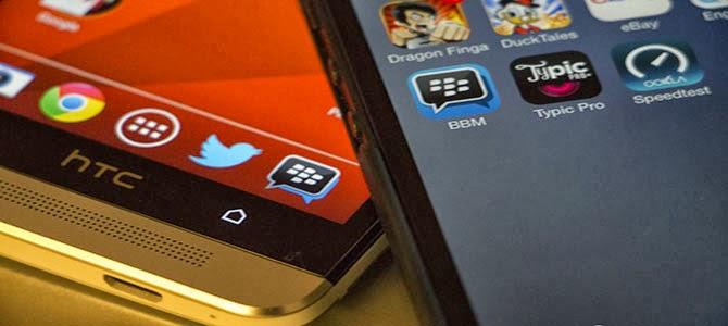 Peluncuran Global BBM untuk Android dan iPhone Ditahan gupitan