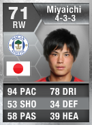 Ryo Miyaichi 71 - FIFA 13 Ultimate Team Card - FUT 13
