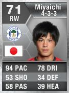 Ryo Miyaichi 71 - FIFA 13 Ultimate Team Card - FUT 13