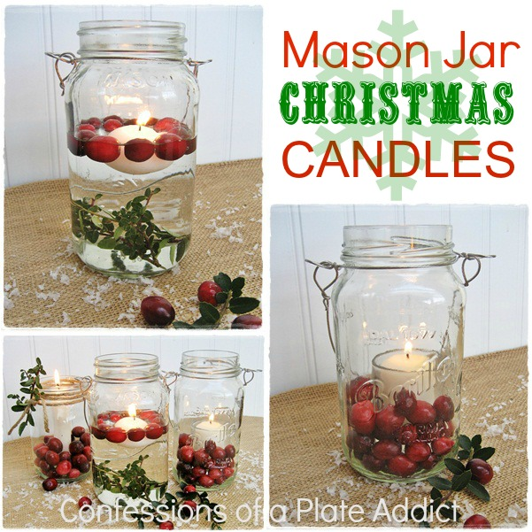 confessions of a plate addict fun and easy mason jar christmas candles. Black Bedroom Furniture Sets. Home Design Ideas