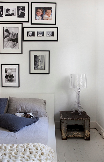 decorar pared con fotografias