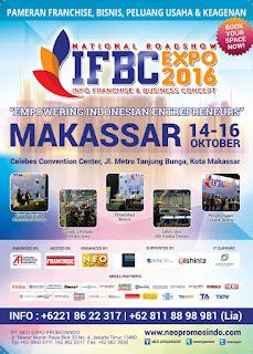 14-16 Oktober: #SemuaOrangBisaJadiPengusaha di MAKASSAR Franchise Expo #IFBC2016