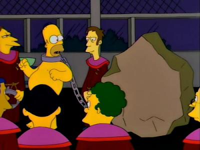 Homer Simpson pietra trionfo tagliapietre