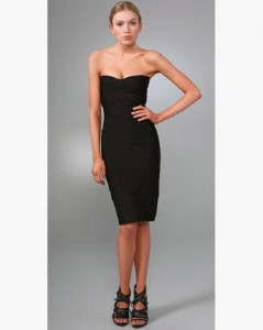 black strapless Short Evening Dress