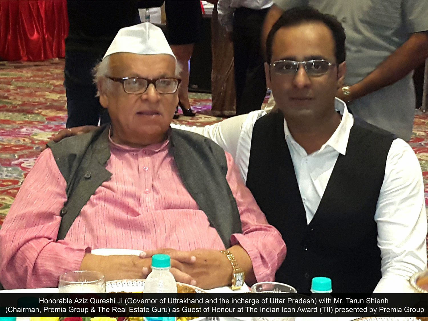 Mr. Tarun Shienh Chairman, Premia Group with Mr. Aziz Qureshi Ji - Governor of India