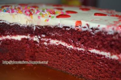 Resepi Red Velvet Cake (Kek Baldu Merah) Yummeh, Sedapnya!