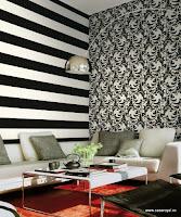 Roberto Cavalli, Pret Tapet, Modele Tapet, Montaj Tapet, Tapet Lux, model linii negru pe alb