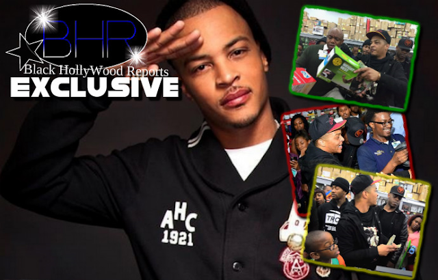 Rapper T.I Pays For All The Single Mother's Shopping Tabs On Christmas Eve