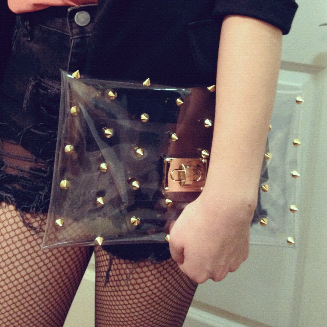 Transparent Clutch with Studs