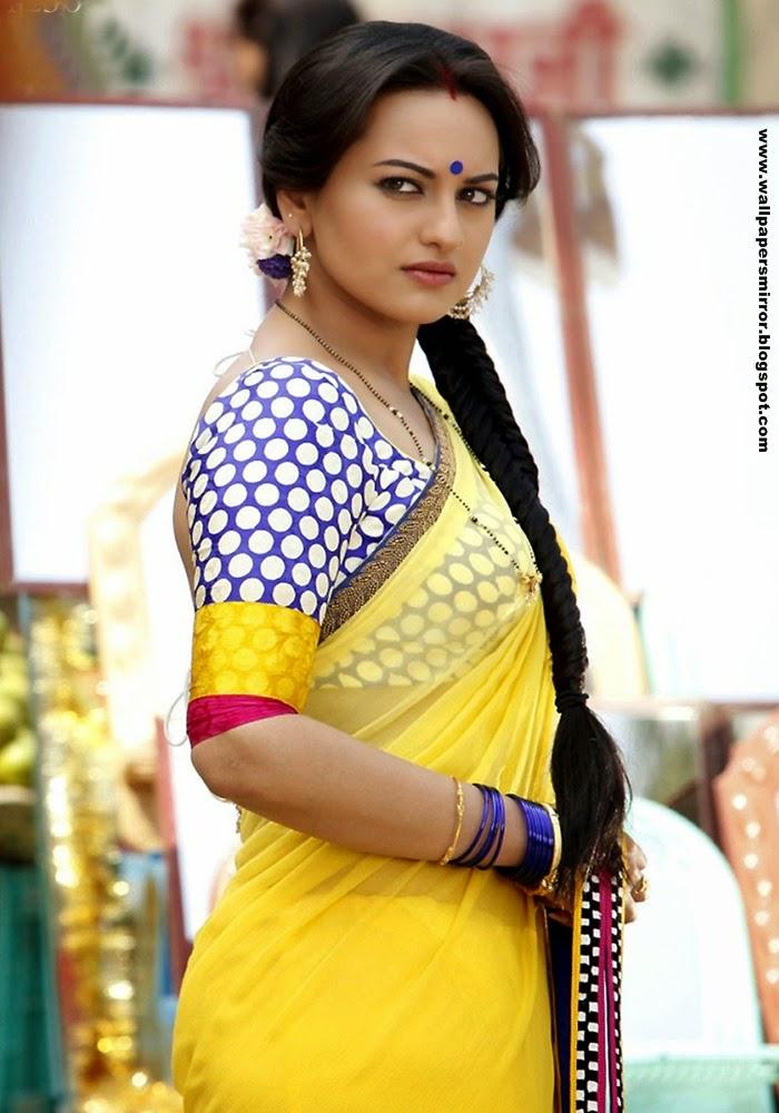 Sonakshi Sinha in Yellow Top HD wallpapers