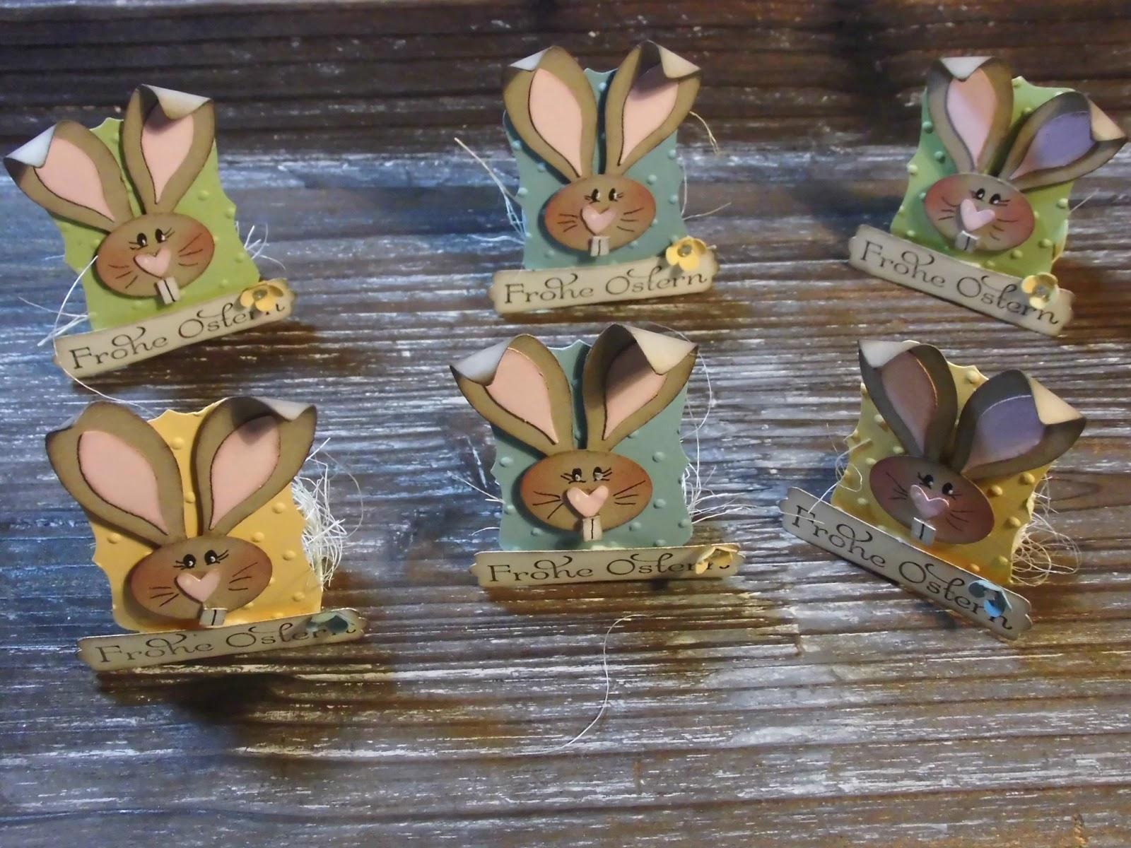 Kreativ Am Deich Kleiner Osterhase Als Tischschmuck