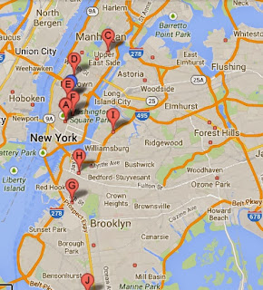 map to bjj for kids in nyc