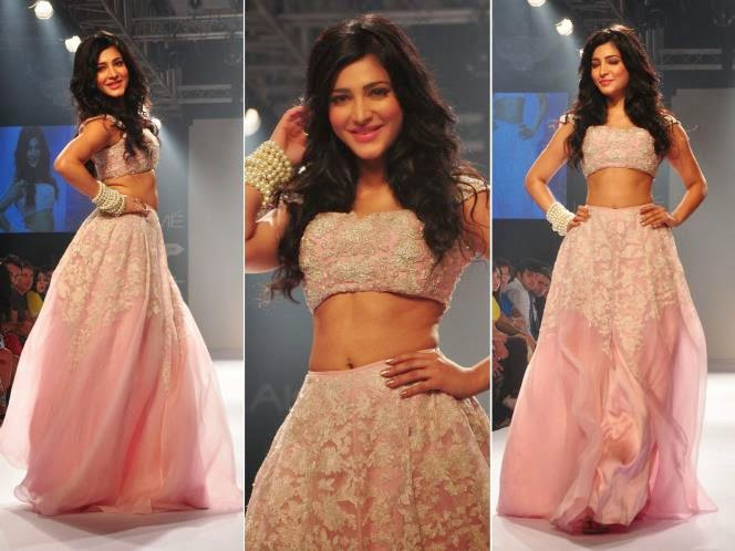 Shruti haasan in Lakme fashion week 2014