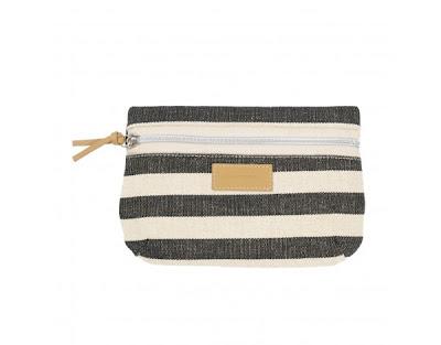 striped clutch