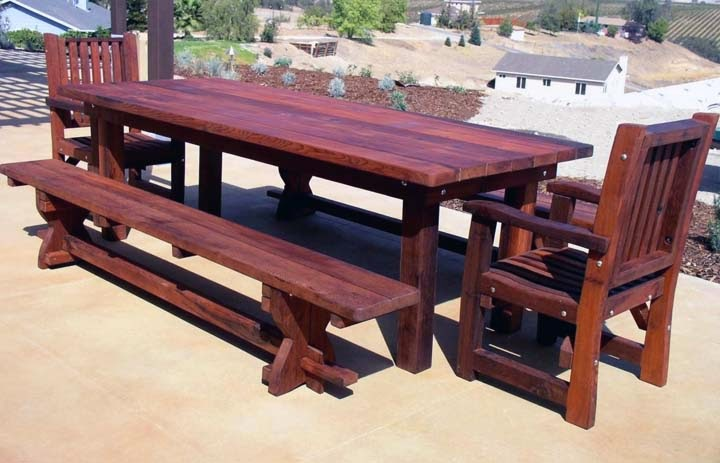 Wicker Patio Furniture Paint_23053002 ~ wooden patio table pictures below  photos of outdoor wooden tables for - Patio Table Wood Plans_06043035 ~ Ongek.net : Inspiration Garden